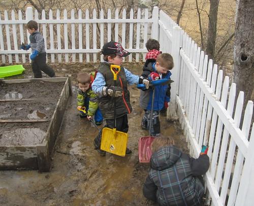 digging a stream