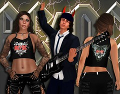 AC/DC ´s Angus Young introduces the new VYPER ladies Black Ice studded top