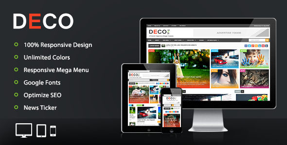 Deco Mag v1.0 – Responsive Magazine Blogger Template