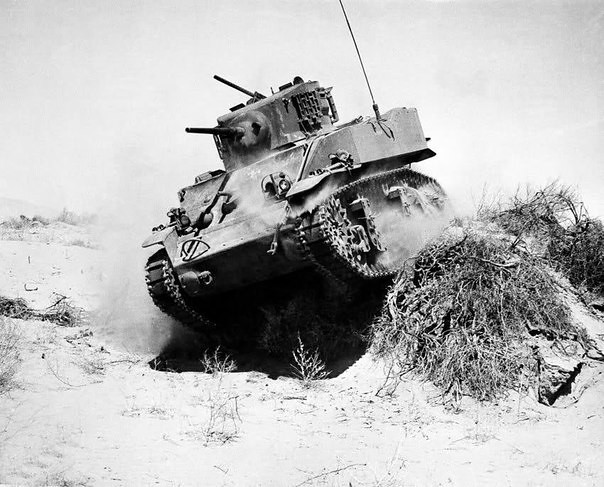M5 Stuart tank North Africa.