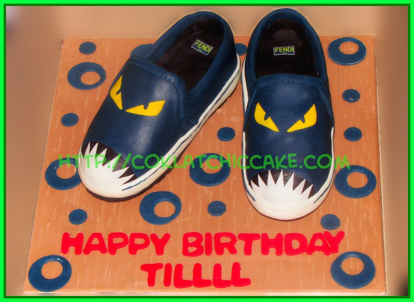 cake sepatu