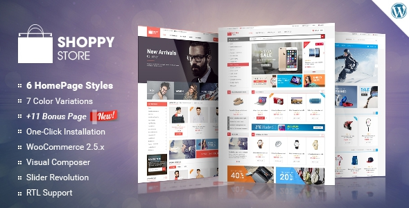 ShoppyStore v1.4.0 - WooCommerce WordPress Theme
