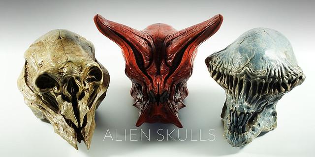 THE ART OF DOMINIC QWEK - 外星生物頭骨系列:斯巴達/守衛者/聖騎士