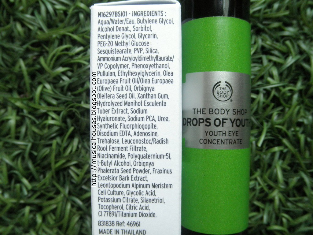 The Body Shop Drops of Youth Eye Concentrate Ingredients