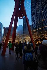 Selfie Time! Zucotti Park, Lower Manhattan, Winter