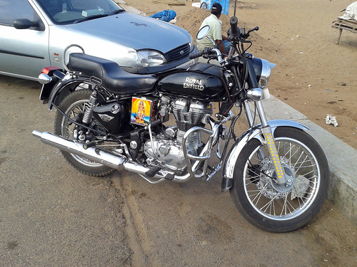 Royal Enfield, Gandhi Beach, Chennai, India (2)