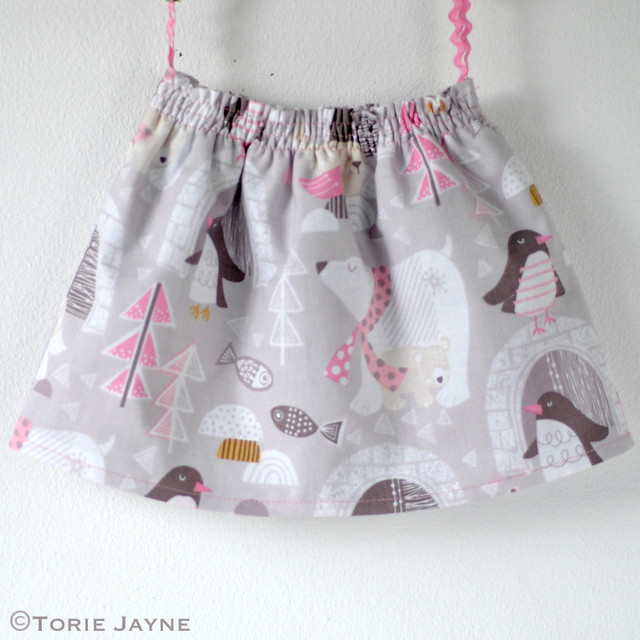 Toddler Girls Shirred Waist Skirt Sewing Tutorial 15