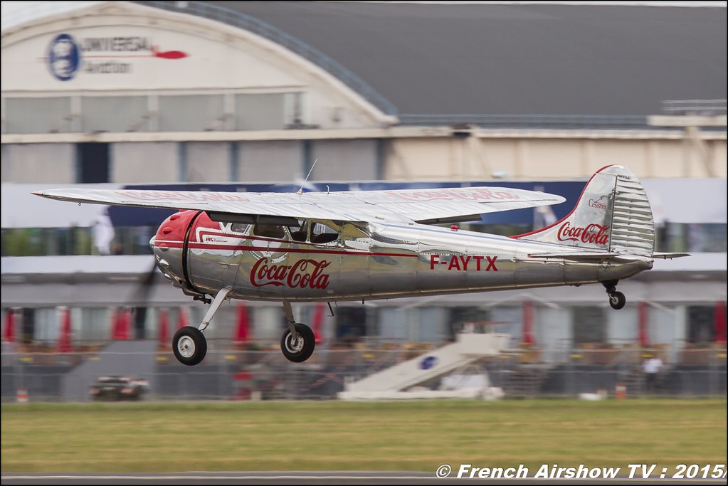 Cessna 195 - F-AYTX Foug'Air Association coca cola Salon du Bourget Sigma France Paris Airshow 2015