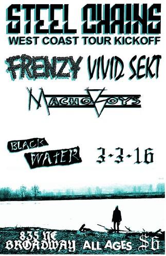 3/3/16 SteelChains/Frenzy/VividSekt/MachoBoys