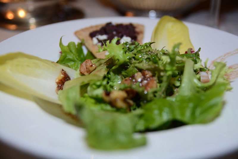 Panache of Greens, Balsamic and Walnut Vinaigrette