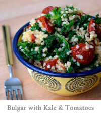 Bulgar Wheat with Kale & Slow Roasted Cherry Tomatoes