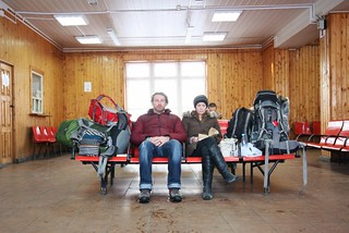 Five hour wait on the way to Kalyazin in the middle of nowhere.