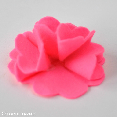 Felt Flower Brooch Tutorial 9