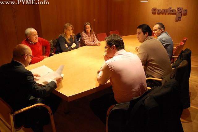 Instantanea de la nueva Junta Directiva de la Asociación de Empresarios Salmantinos de Limpiezas, integrada dentro de CONFAES.