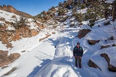 No Thoroughfare Canyon Snow (2-7-16)