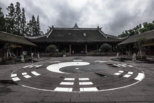 Taoism Temple Courtyard, Chengdu