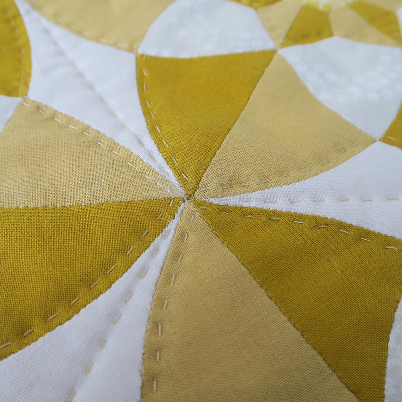 English paper piecing close up