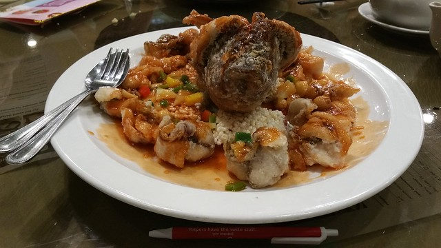 2016-Feb-24 Fortune House - deep fried tilapia in sweet and sour sauce