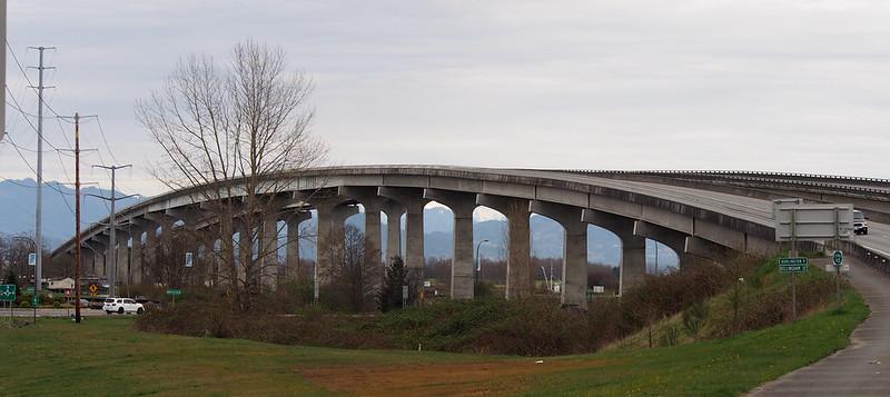 SR-20 Swinomish Channel Bridge: USBR 10 is the sidewalk for the bridge.