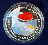 Malaysia colored silver table tennis coin
