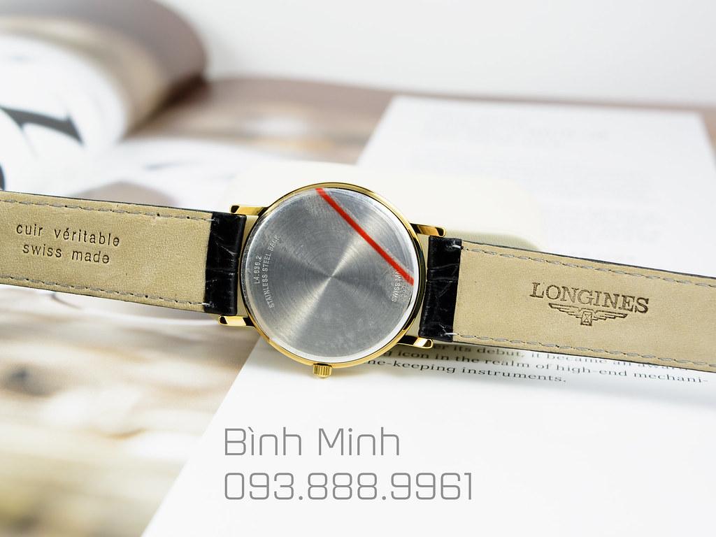 Đồng hồ Longines Le Classique lắc kê vàng máy Quartz mới 100%, đủ hộp sổ thẻ