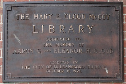 illinois library plaquecornerstone mcleansboro