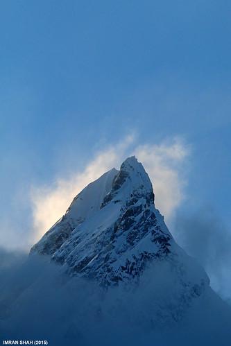 pakistan sky snow mountains ice clouds landscape location elements tele hunza summits gilgitbaltistan mandoszh