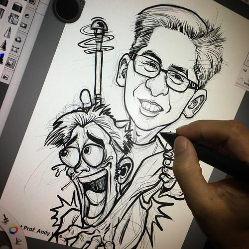 orthopedic surgeon Adj Asst Prof Andy Wee digital caricature