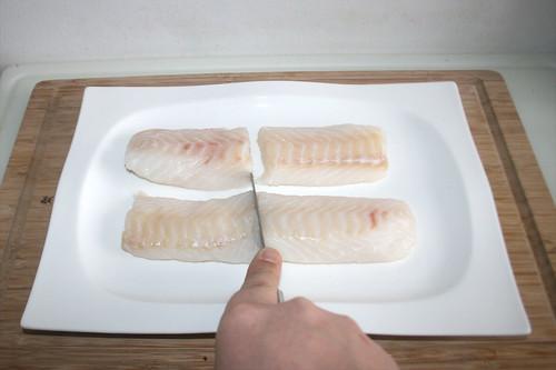 14 - Kabeljaufilet zerteilen / Cut codfish