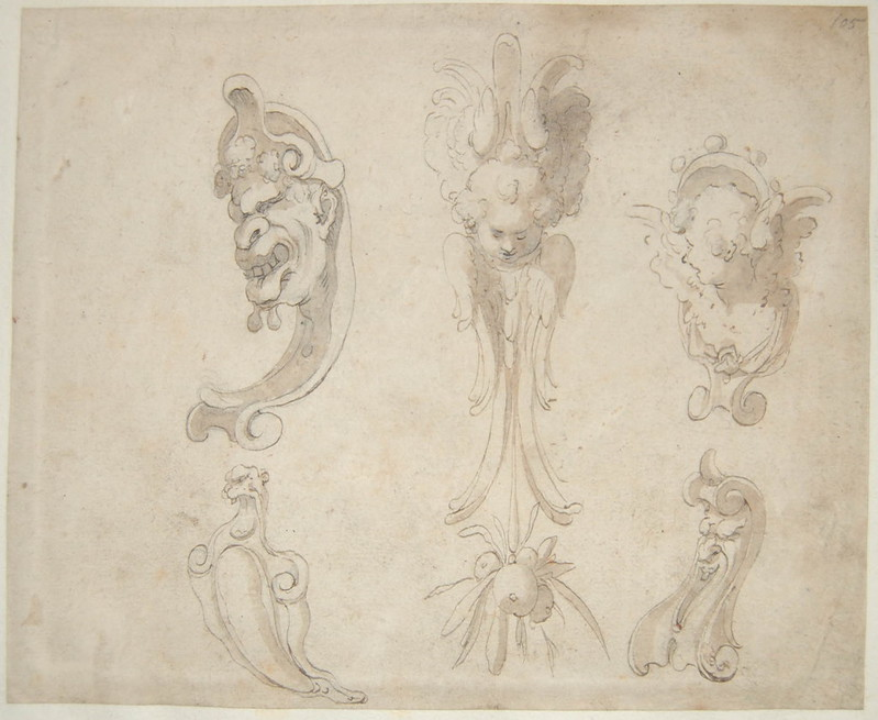 Arent van Bolten - Monster 105, from collection of 425 drawings, 1588-1633