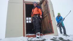 Schron Biv. Parravicini 3183m -  ja i Tomek.