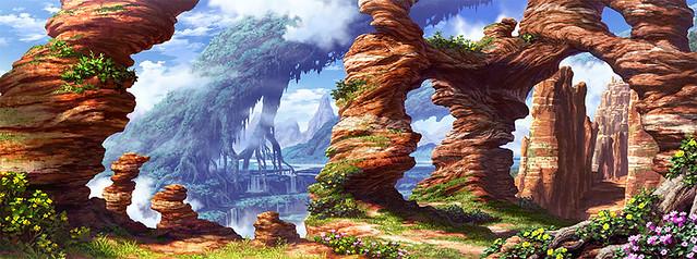 第二階層「奇岩の山道」
