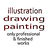 the Drawing Painting Illustration group icon
