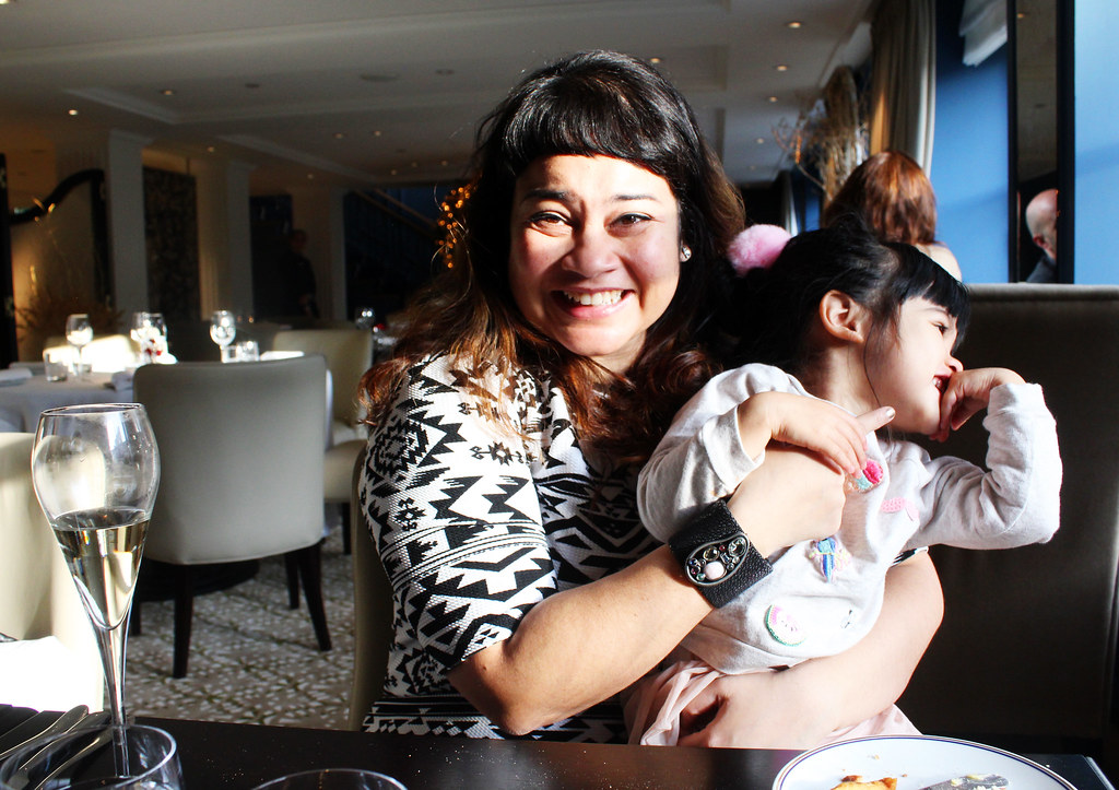 Mama and Tala at the Waldorf Astoria Amsterdam Christmas lunch
