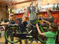 WorkCycles mechanics hard at work on the 2016 Special Editions