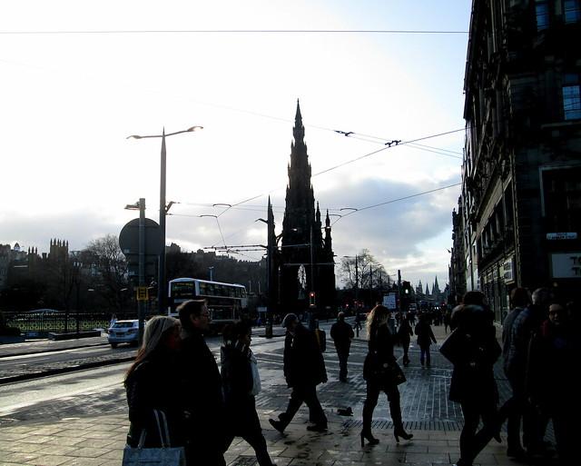 tram wires in Pinces Street