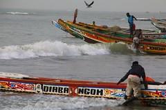 Fishing boats in Tanji, the Gambia