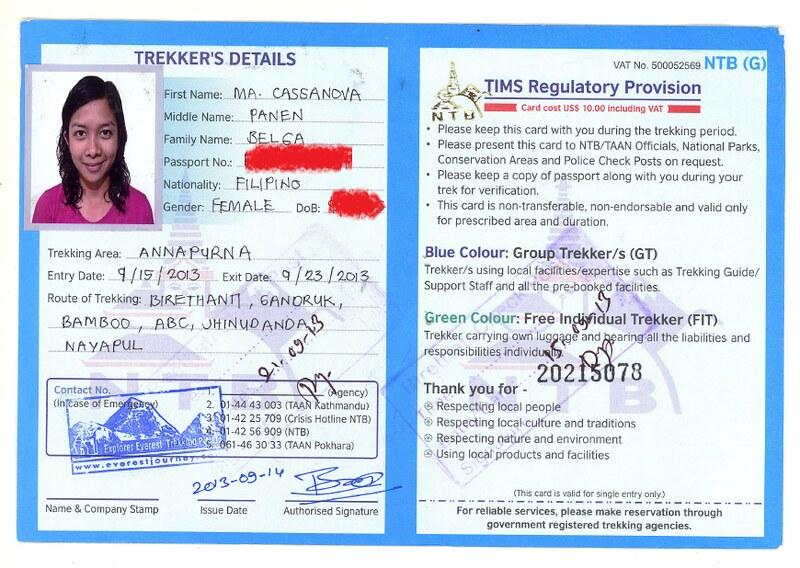 Nepal Trekking Permits