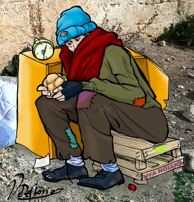 Noicattaro. Vignetta nojano abbandonato intero