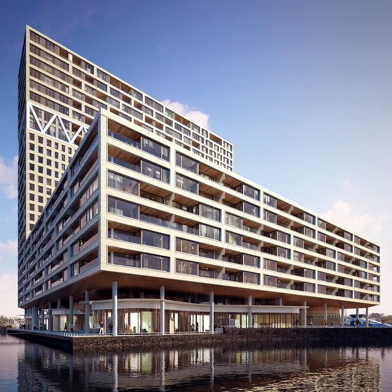 Здание Ponsteiger с причалом в Амстердаме