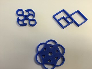 Computer class 2D geometric shapes to 3D printing