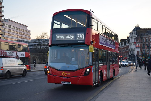 Go-Ahead London General WHV90 on Route 270, Putney Bridge