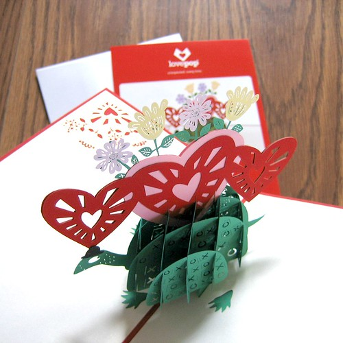 LovePop Cards - Valentine Turtle