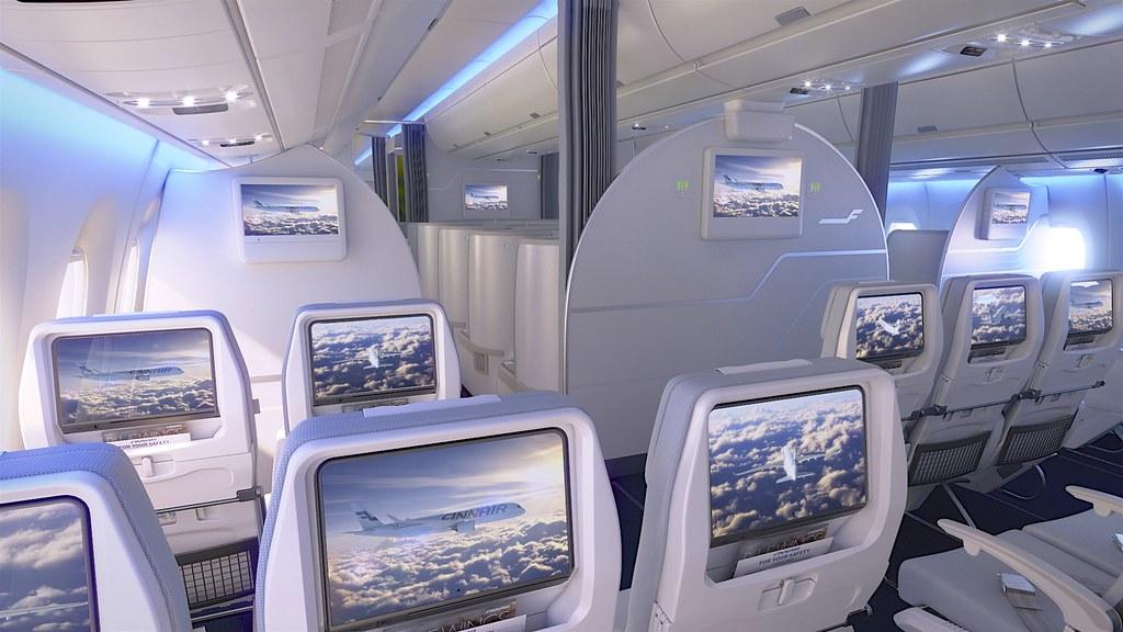 Finnair A350 XWB Economy Class Cabin 06 HR