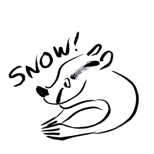 Happy snow badger #badger #badgerlog #parenting #snow #skiingseason #happy