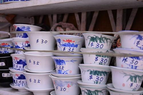 香港蓮の花の蓋碗