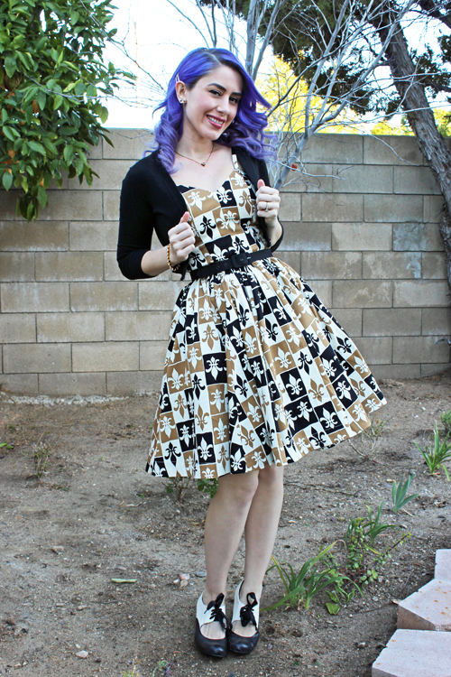 Trashy Diva Ruby Middy Dress in Grand Fleur Print