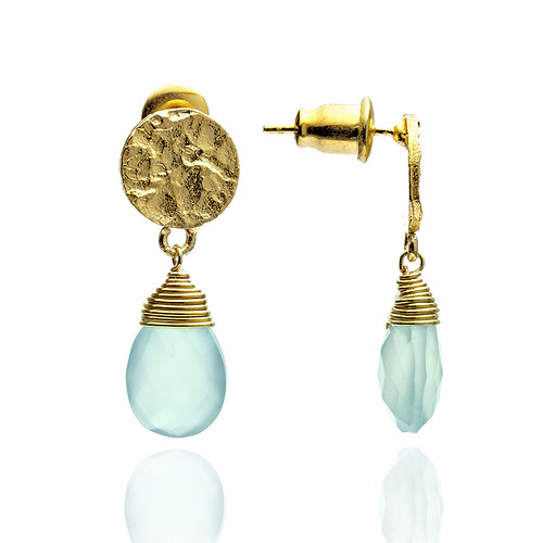 Azuni-Aqua-Chalcedony-Athena-Small-Drop-Earrings