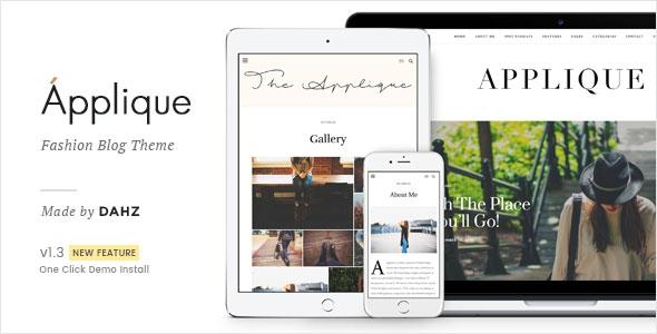 Themeforest Applique v1.2 - Fashion Blog Theme