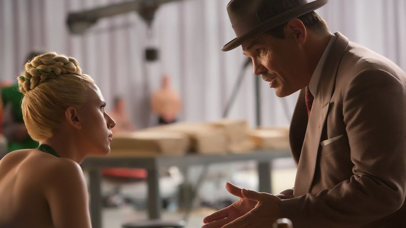 Scarlett Johansson and Josh Brolin take one of the many detours in HAIL, CAESAR!
